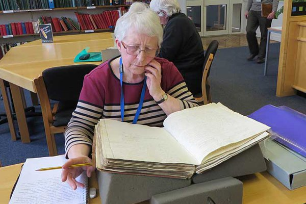 Photo of Volunteer at Gloucestershire Archives