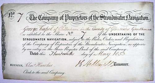 Share 7 when transferred to George Chapel, 13 May 1853